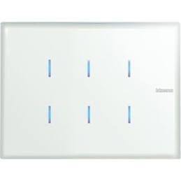 Bticino AXOLUTE DALLE TACTILE 6 TOUCHES WHICE - HC4657M3KNX