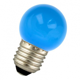 LED G45 E27 240V 1W Bleu...