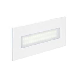 Aric BALIZ 3 - Encastré Mur rectang.  fixe  blanc  LED intég. 2 76W 4200K 222lm - 50266