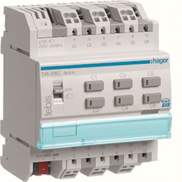 Hager Module 6 sorties 16A / 230V~ - TXA206C