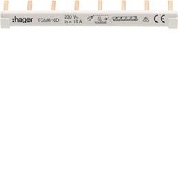 Hager Barre de pontage 6mm²...