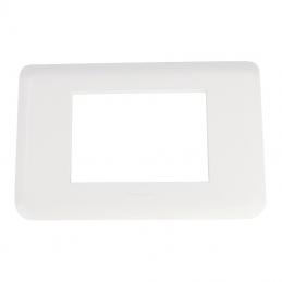 Plaque pour 3 modules blanc...