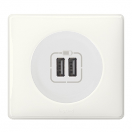 Prise double chargeur USB -...